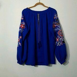 CLOSING Royal Blue Long Sleeve Pullover